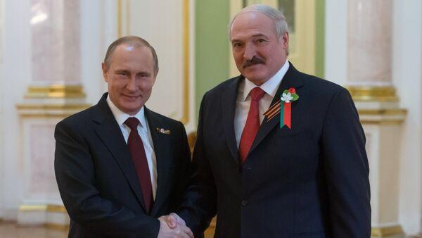 Rossiya prezidenti Vladimir Putin va Belorussiya rahbari Aleksandr Lukashenko - Sputnik Oʻzbekiston