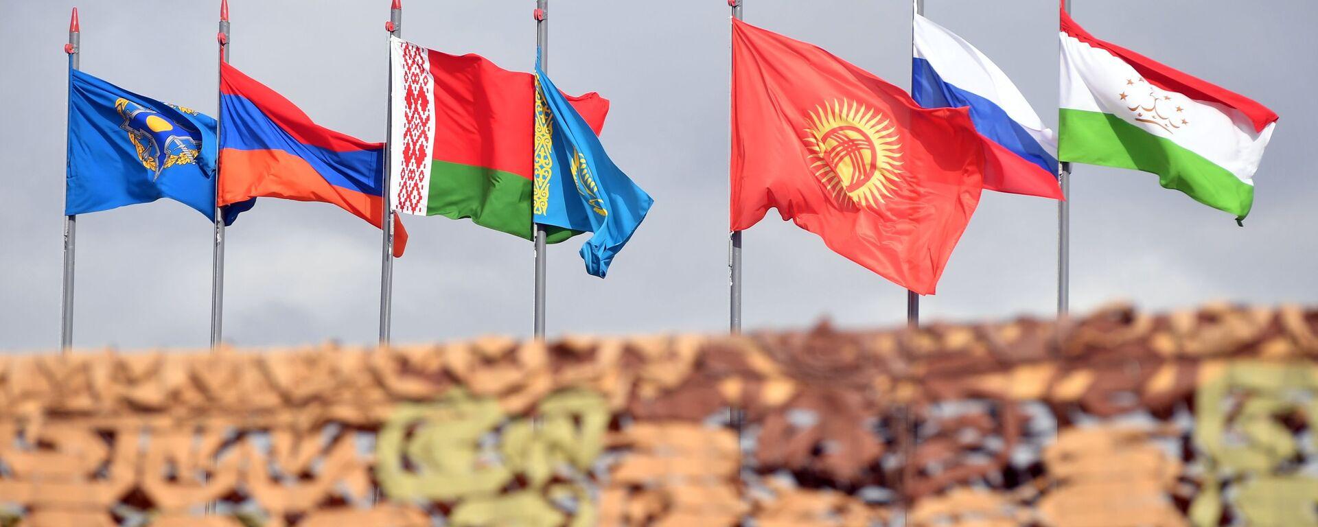 Государственные флаги стран-участниц ОДКБ - Sputnik Узбекистан, 1920, 15.09.2021