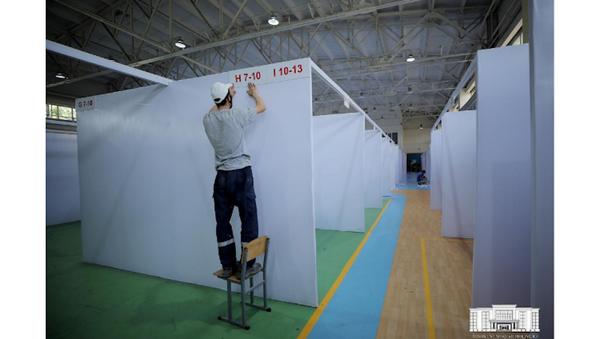 V Tashkente pereoboruduyut sportkompleksы v gospitali - foto - Sputnik Oʻzbekiston