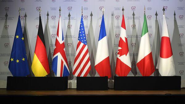 Flagi Yevrosoyuza i stran G7 - Sputnik Oʻzbekiston