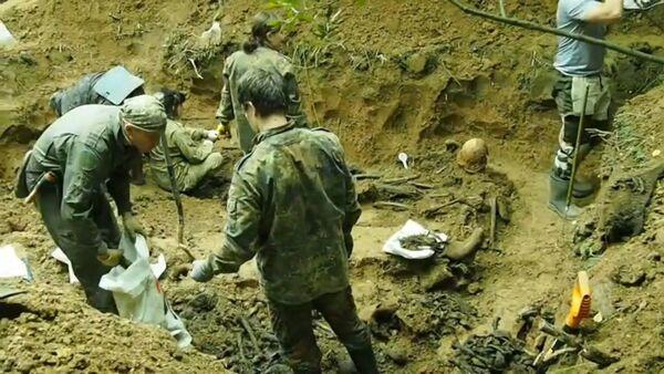 Безымянный батальон: поисковики обнаружили останки 256 красноармейцев, погибших в боях за Москву - Sputnik Узбекистан
