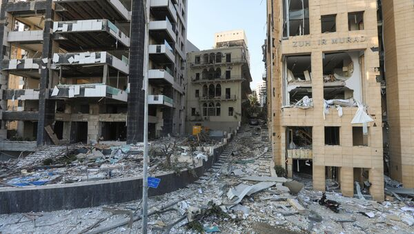 Вид улиц Бейрута после взрыва в порту - Sputnik Узбекистан
