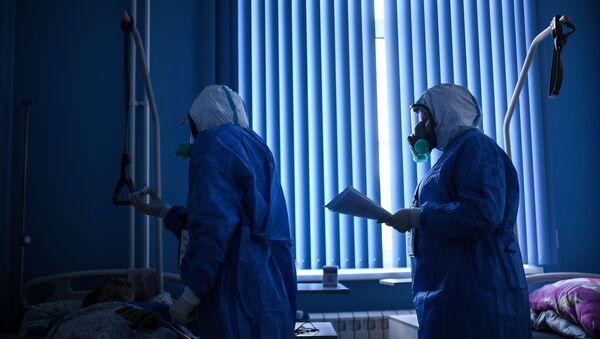 Госпиталь COVID-19 в ЦИТО им. Н. Н. Приорова - Sputnik Узбекистан