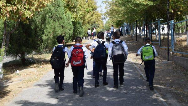 Deti po doroge v shkolu - Sputnik Oʻzbekiston