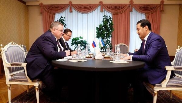 Встреча заместителя премьер-министра Узбекистана Умурзакова с зампредседателем правительства РФ Оверчуком - Sputnik Узбекистан