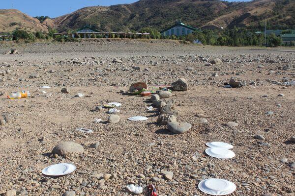 Приезжая на целый день, отдыхающие привозят еду с собой, а вот оставшийся мусор убирают далеко не все. После этого еще удивляются, почему на пляже так грязно. - Sputnik Узбекистан