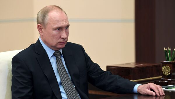 Президент РФ В. Путин - Sputnik Ўзбекистон