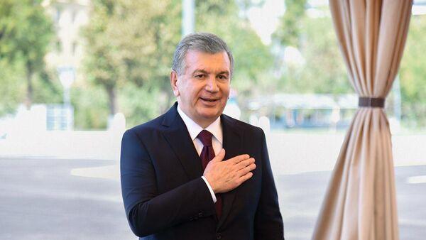 Шавкат Мирзиёев на осмотре улицы имени Ахмада Дониша - Sputnik Узбекистан