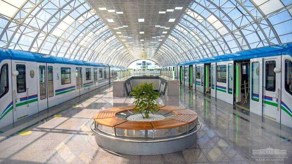 Stantsiya tashkentskoy koltsevoy linii metro - Sputnik Oʻzbekiston