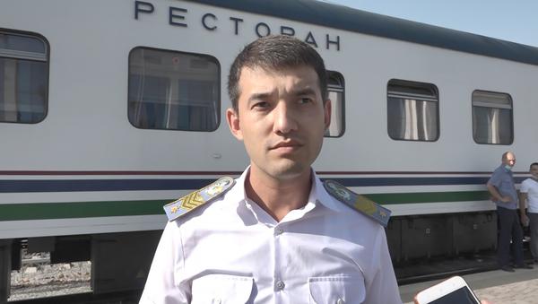 Заместитель начальника группы реализации проектов по электрификации и обновления локомотивного парка Чингиз Кудабеков - Sputnik Ўзбекистон