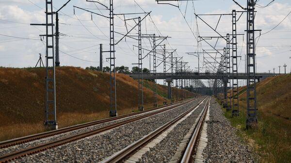 Участок железнодорожного пути - Sputnik Ўзбекистон