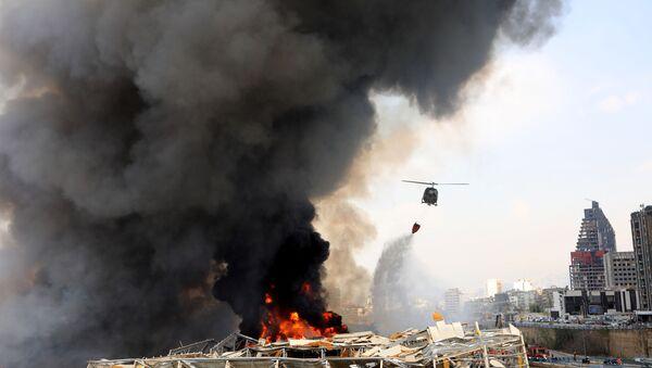 Пожар в Бейруте - Sputnik Ўзбекистон