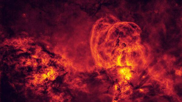 Снимок Cosmic Inferno австралийского фотографа Peter Ward, занявший первое место в категории STARS AND NEBULAE конкурса Insight Investment Astronomy Photographer of the Year 2020 - Sputnik Ўзбекистон