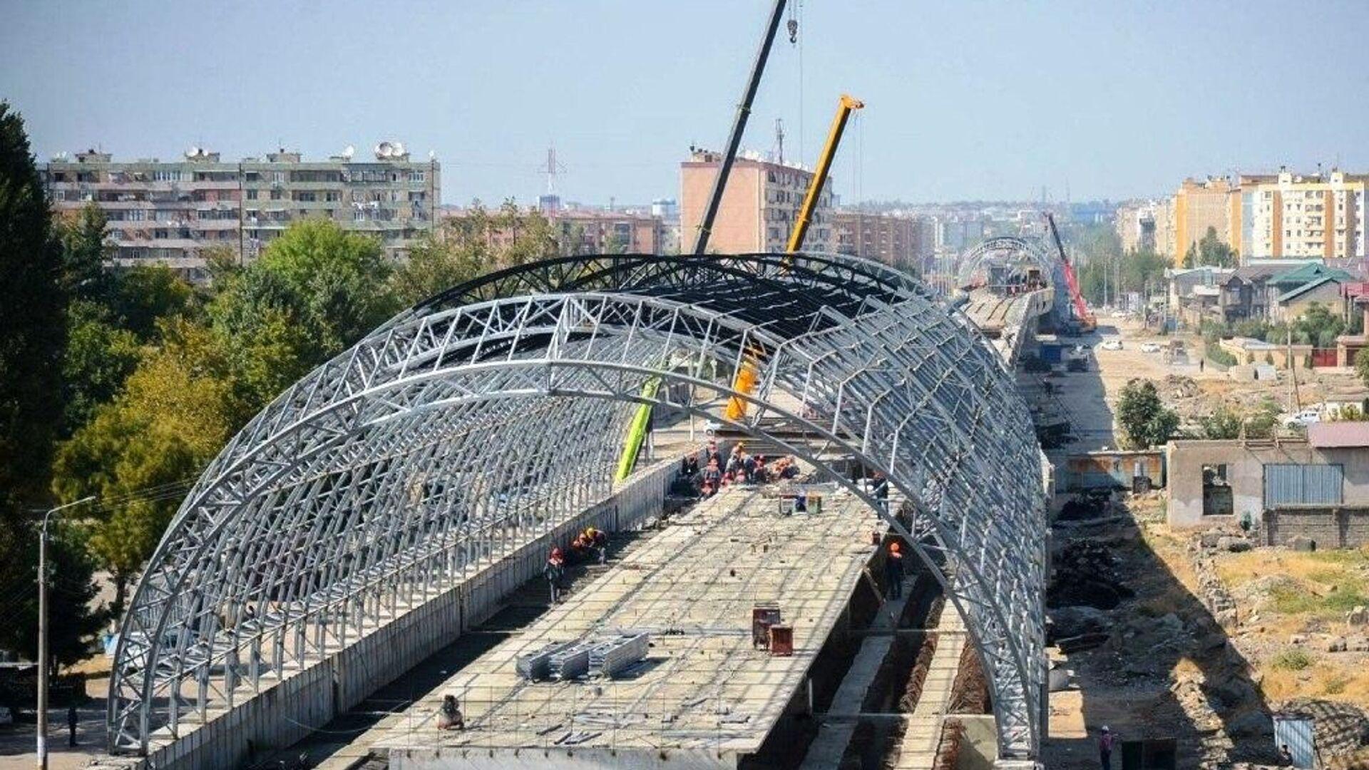 Строительство Сергелийской линии метро - Sputnik Узбекистан, 1920, 05.07.2021