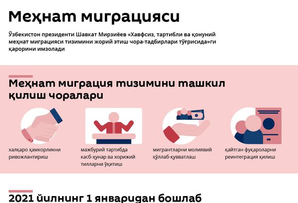 Mehnat migratsiya tizimini tashkil qilish choralari - Sputnik Oʻzbekiston