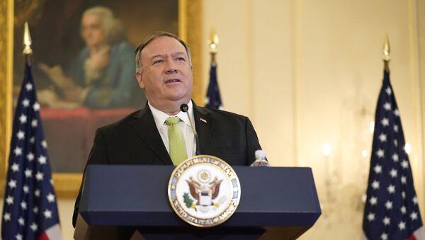 Госсекретарь США Майк Помпео - Sputnik Ўзбекистон
