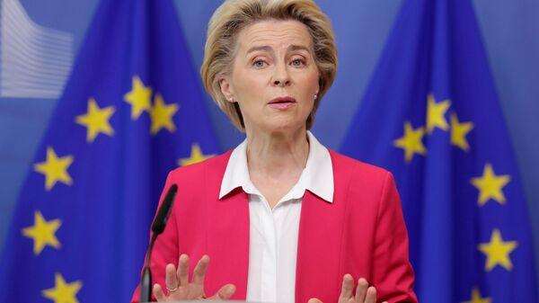 Prezident Yevropeyskoy komissii Ursula fon der Lyayen - Sputnik Oʻzbekiston
