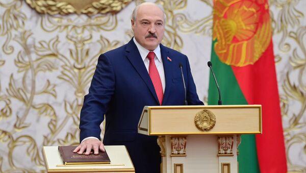 Prezident Belorussii Aleksandr Lukashenko na tseremonii inauguratsii v Minske - Sputnik Oʻzbekiston