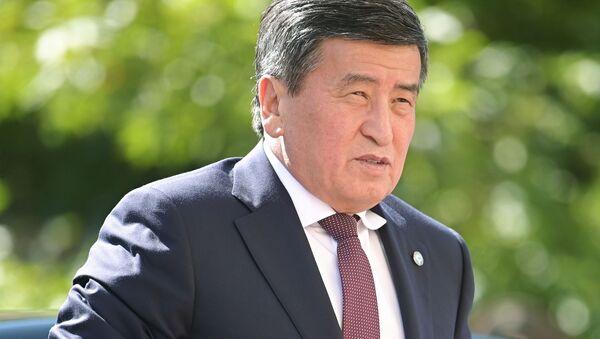 Президент Киргизии Сооронбай Жээнбеков  - Sputnik Ўзбекистон