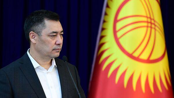 Kandidat na post premyer-ministra Sadыr Japarov - Sputnik Oʻzbekiston