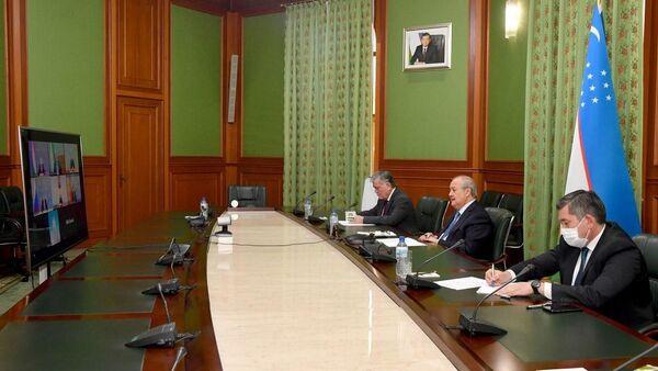 Министр иностранных дел Республики Узбекистан Абдулазиз Камилов принял участие в третьем заседании глав внешнеполитических ведомств государств Центральной Азии и России в формате видеоконференции - Sputnik Ўзбекистон