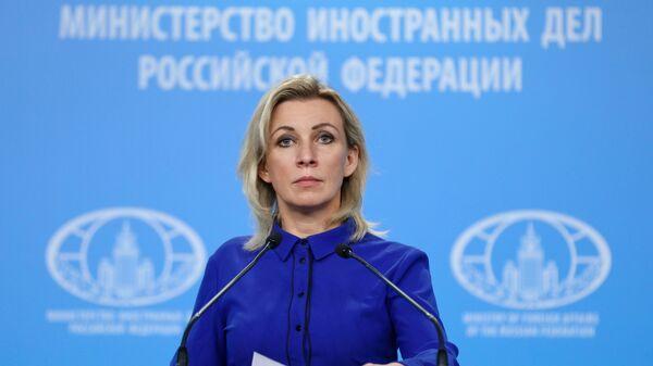 Brifing ofitsialnogo predstavitelya MID Rossii M. Zaxarovoy - Sputnik Oʻzbekiston