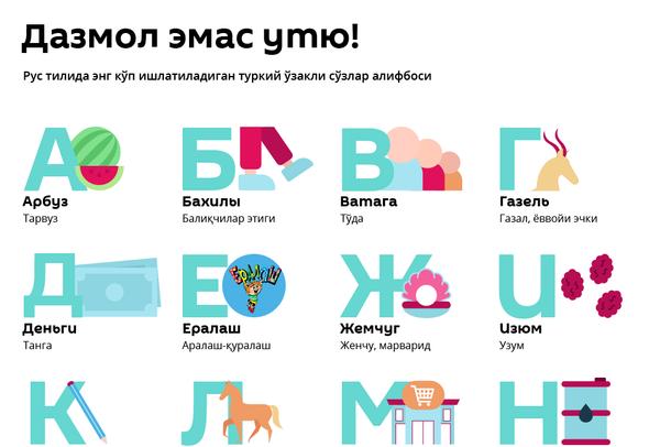 рус тили алифбоси - Sputnik Ўзбекистон