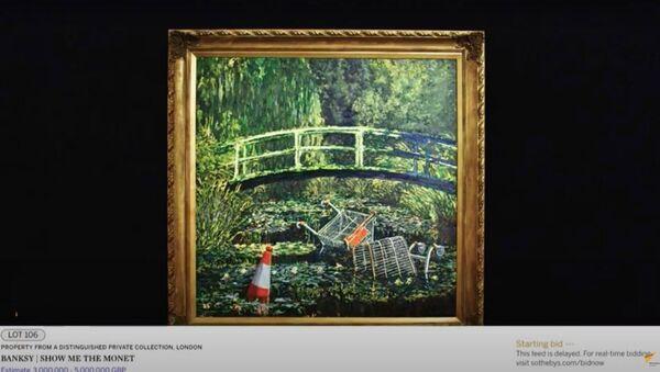Картину Бэнкси продали на аукционе за 10 миллионов долларов - Sputnik Узбекистан