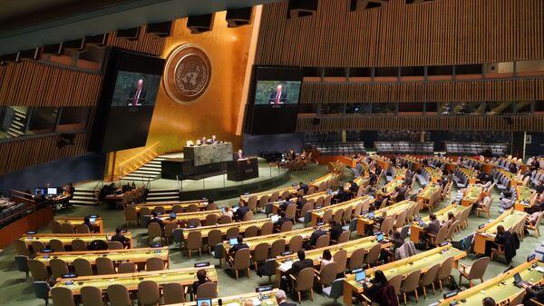 Пленарное заседание Генассамблеи ООН - Sputnik Узбекистан