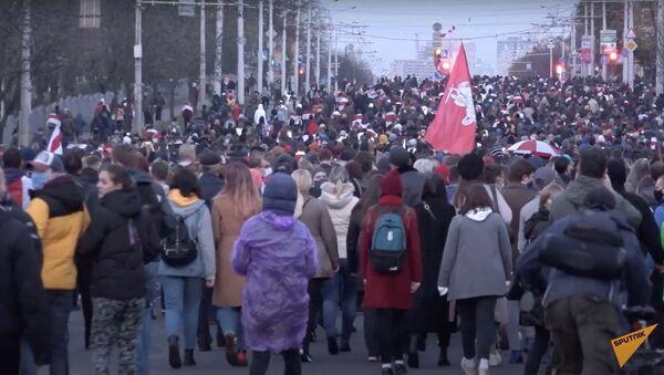 Как прошел Марш народного ультиматума в Минске? - Sputnik Узбекистан