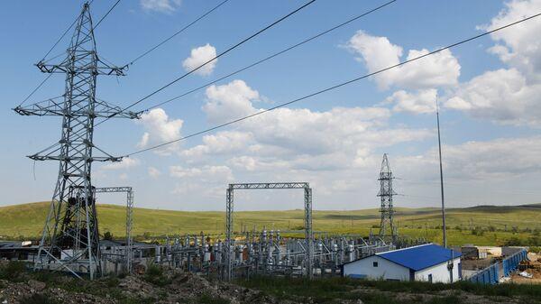 Провода станция электричество  - Sputnik Узбекистан