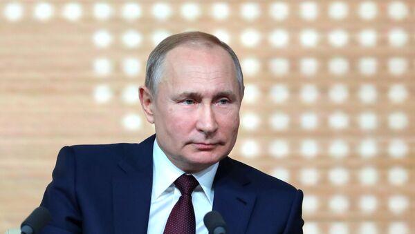 Ежегодная большая пресс-конференция президента РФ В. Путина - Sputnik Узбекистан