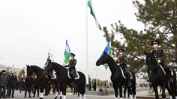 Празднование Дня Государственного флага в Ташкенте - Sputnik Ўзбекистон
