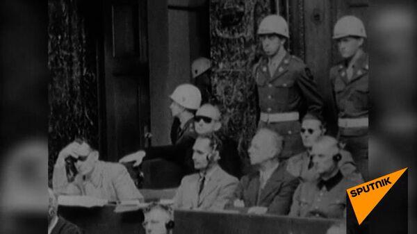 Суд истории на Нюрнбергском процессе 1945-1946 годов. Архивные кадры   - Sputnik Узбекистан