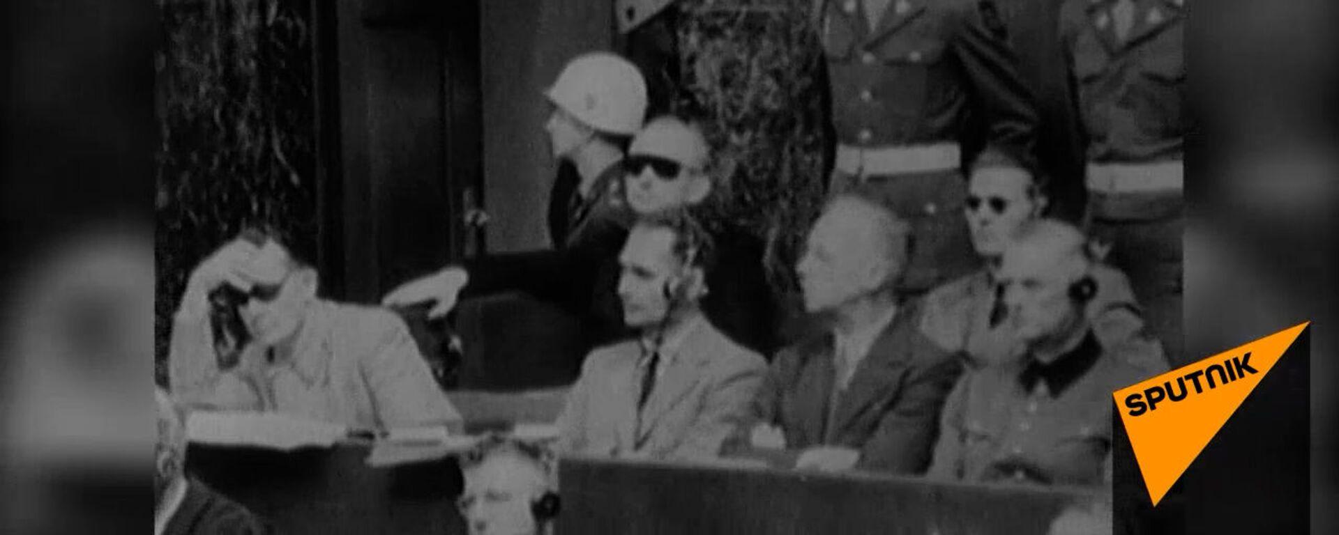 Суд истории на Нюрнбергском процессе 1945-1946 годов. Архивные кадры   - Sputnik Узбекистан, 1920, 19.11.2020
