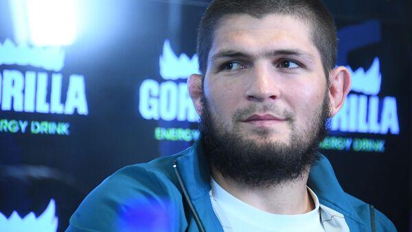 Пресс-конференция чемпиона UFC Х. Нурмагомедова  - Sputnik Узбекистан