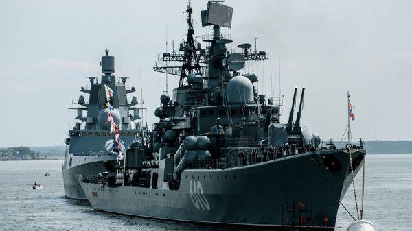 Эсминец Настойчивый в Балтийске Калининградской области - Sputnik Ўзбекистон