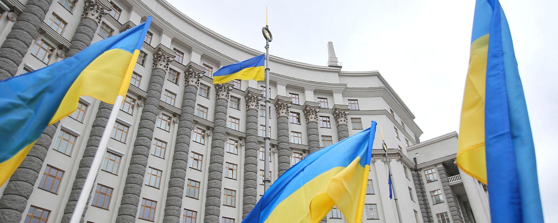 Здание правительства Украины в Киеве. - Sputnik Узбекистан, 1920, 11.08.2021