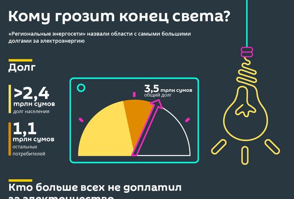 Сколько узбекистанцы задолжали за электричество - Sputnik Узбекистан