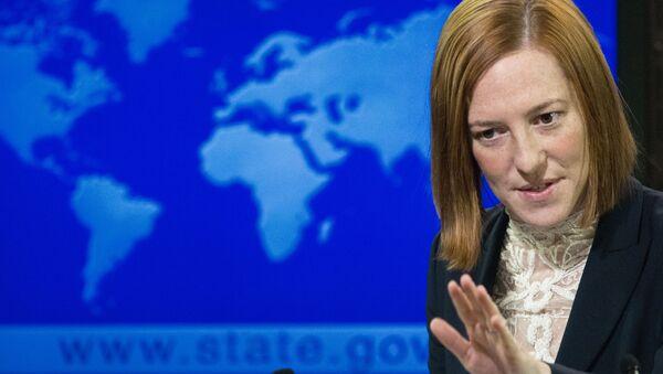 Бывший пресс-секретарь Госдепартамента США Джен Псаки - Sputnik Узбекистан