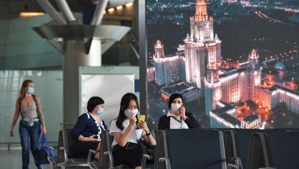 Passajirы v aeroportu Vnukovo - Sputnik Oʻzbekiston
