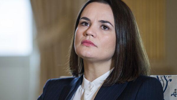 Светлана Тихановская во время встречи с главой МИД Швеции - Sputnik Ўзбекистон