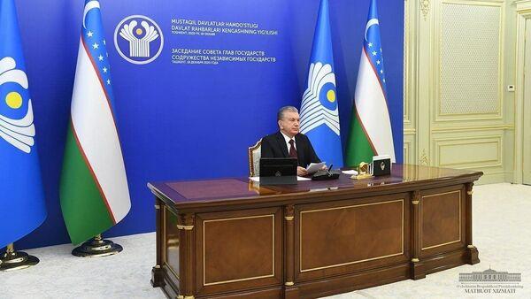 Встреча глав стран СНГ 18 декабря 2020 года - Sputnik Ўзбекистон