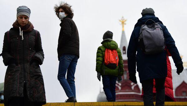 Масочный режим в Москве - Sputnik Ўзбекистон