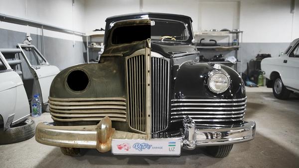 Автомобиль ЗиС-110 Б в мастерской Ретро-гараж в Ташкенте - Sputnik Ўзбекистон