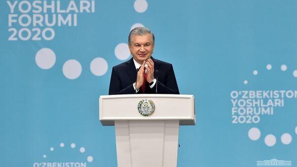 Shavkat Mirziyoyev prinyal uchastiye v molodejnom forume - Sputnik Oʻzbekiston