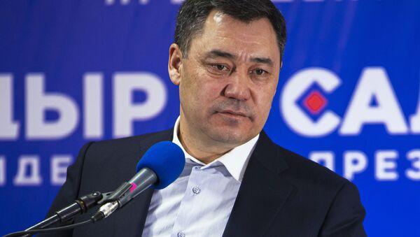 Press-konferentsiya S. Japarova po itogam vыborov v Kirgizii - Sputnik Oʻzbekiston
