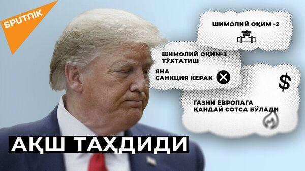 """""""Shimoliy oqim 2"""": AQSH Yevropa kompaniyalariga yangi sanktsiyalar bilan dagʻdagʻa qilmoqda - Sputnik Oʻzbekiston"""