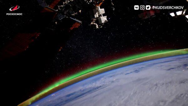 Видеофакт: космонавт запечатлел северное сияние с борта МКС - Sputnik Узбекистан