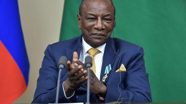 Prezident Gvinei Alfa Konde  - Sputnik Oʻzbekiston